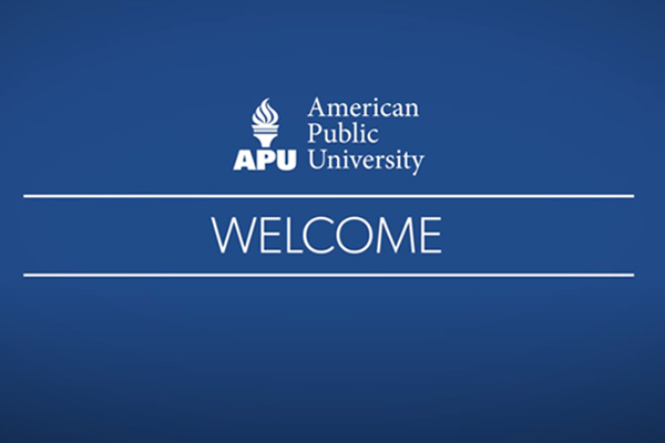 Title slide for video - Welcome to APU