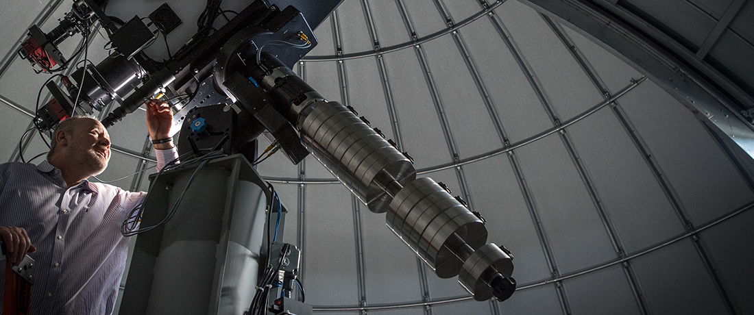 Dr Albin and Telescope